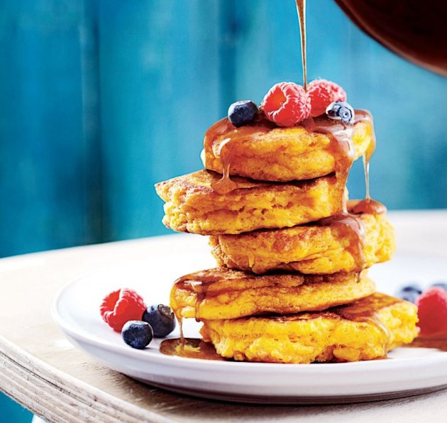cinnamon-pumpkin pancakes brunch recipe