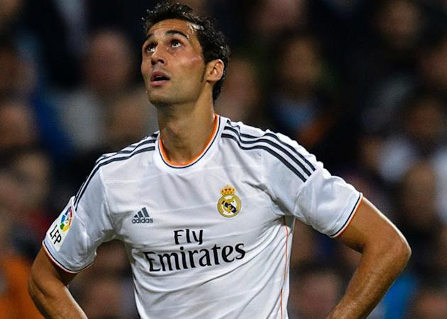 A picture taken on September 28, 2013 shows Real Madrid's defender Alvaro Arbeloa during a Spanish league football matchat the Santiago Bernabeu stadium in Madrid