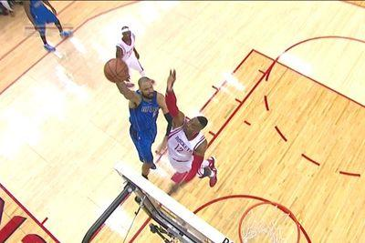 Dwight Howard blocked a Tyson Chandler shot into the 5th row