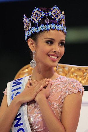 Megan Young of the Philippines smiles after being named …