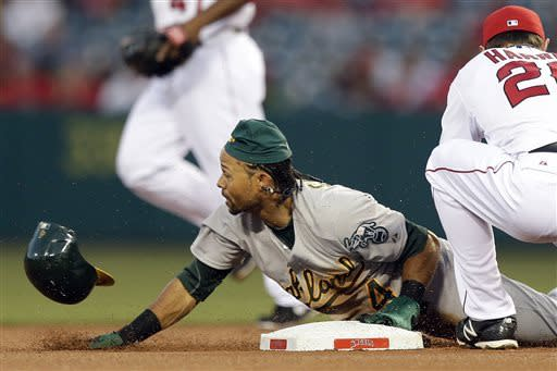 Moss' HR, 5 RBIs power A's to 11-5 win over Angels