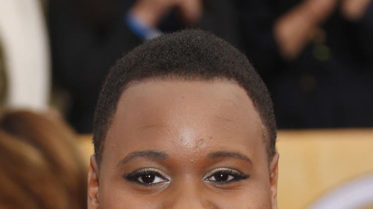 Alex Newell arrives at the 19th Annual Screen Actors Guild Awards at the Shrine Auditorium in Los Angeles on Sunday Jan. 27, 2013. (Photo by Todd Williamson/Invision for The Hollywood Reporter/AP Images)