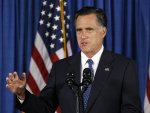 U.S. Republican presidential nominee and former Massachusetts Governor Mitt Romney makes remarks on the attack on the U.S. consulate in Libya in  Jacksonville, Florida