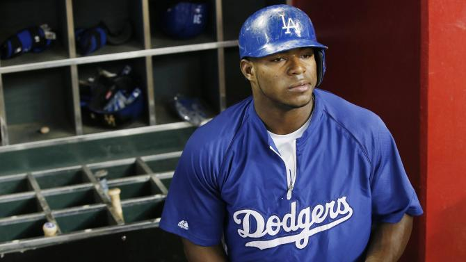 Puig back in Dodgers' lineup after thumb injury