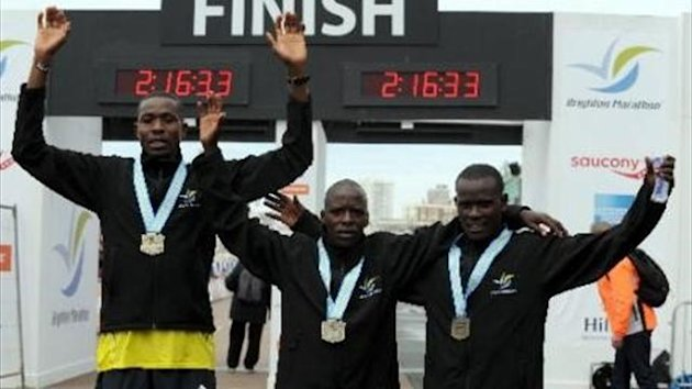 Dominic Kangor wins the men's Brighton Marathon 2013 (official website)