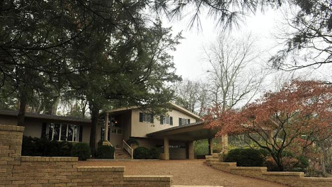 In this photo taken Dec. 22, 2014, the home built in 1958 by the architect of the United Sates' rocket program during the early years of the space race, Wernher Von Braun, is on the market in Huntsville, Ala. Real estate agent Julie Lockwood said the house carries such historic appeal she couldn't miss the chance to sell it. (AP Photo/AL.com, Eric Schultz)