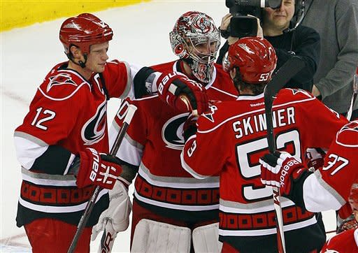 Harrison leads Hurricanes past Sabres 3-1