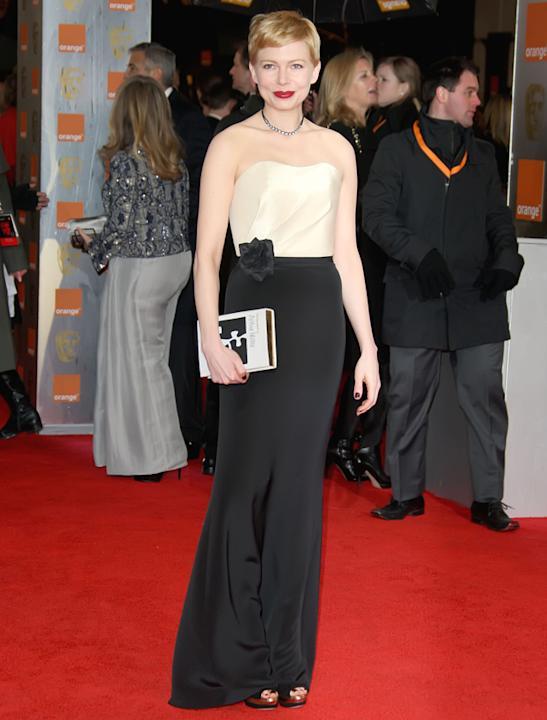 BAFTAs 2012: Michelle Williams in bespoke H&M