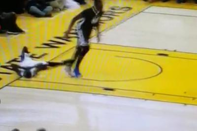 After the worst fast break ever, Darren Collison played dead
