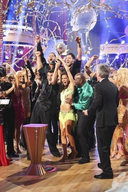 Tony and Melissa celebrate victory on 'Dancing with the Stars: All-Stars,' Nov. 27, 2012 -- ABC