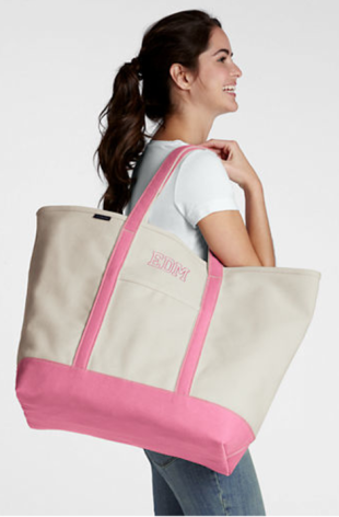 Land's End Open Top Canvas Tote
