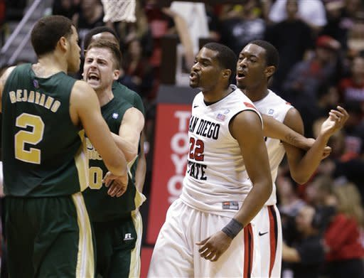 No. 16 SDSU holds off CSU 79-72 in OT