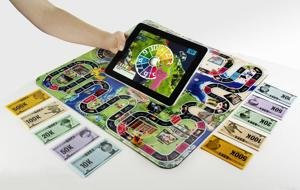 game of life zapped Hasbro board game iPad tablet
