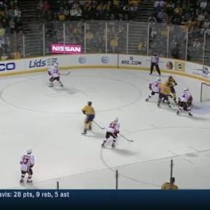 Jonas Hiller Save on Roman Josi (18:51/3rd)