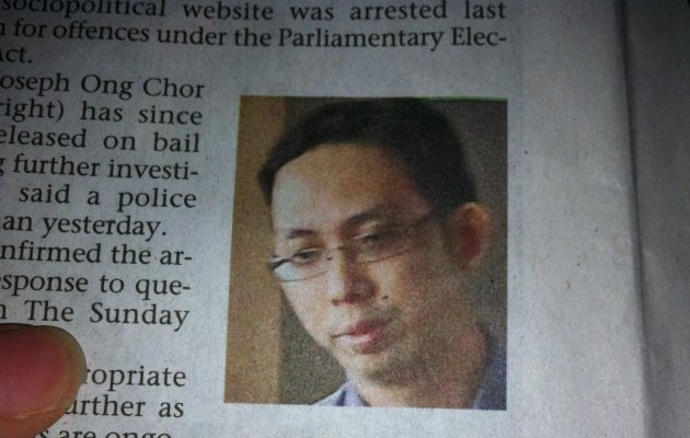 Joseph Ong, linked to Temasek Review Emeritus, has been arrested and released on bail. (Straits Times image)