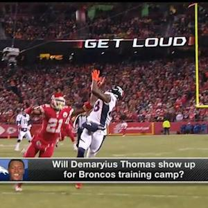 Will Denver Broncos wide receiver Demaryius Thomas show up for Broncos' training camp?