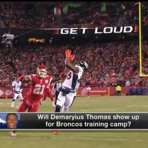 Will Denver Broncos wide receiver Demaryius Thomas show up for Broncos' training camp?