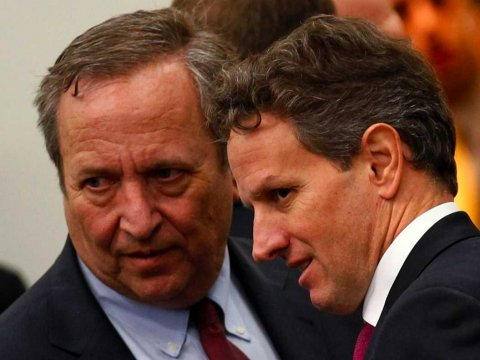 tim geithner larry summers