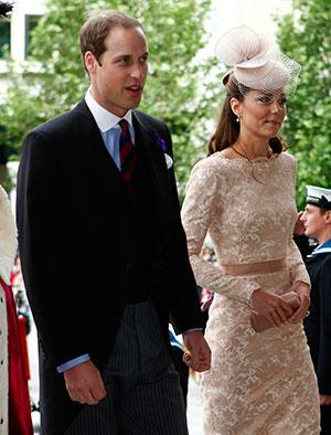 JUBILEE! Kate Middleton stuns in Alexander McQueen nude lace dress for Queen's thanksgiving service at St Paul's
