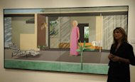 "David Hockney's ""Beverley Hills Housewife"". The man once renowned for paintings of swimming pools in his adopted California admits that with age he has found intense pleasure in sights he once took for granted"