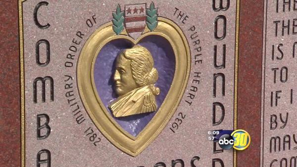 VA Hospital reveals monument for Purple Heart