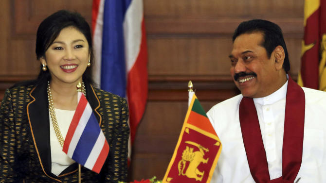 Visiting Thai PM meets with Sri Lankan president