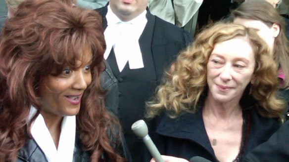 Terri-Jean Bedford, left, and Valerie Scott, shown in 2009, along with a third woman, launched a constitutional challenge of Canada's anti-prostitution laws.