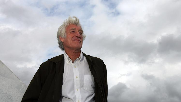 "FILE - In this Jan. 27, 2008 file photo, cinematographer Roger Deakins, who was nominated for two Oscars for ""No Country for Old Men"" and ""The Assassination of Jesse James,""  is shown on the roof of the Harmony Gold building in Los Angeles. (AP Photo/Ann Johansson, File)"