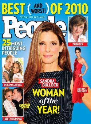 Sandra Bullock on the cover of People's magazine's The 25 Most Intriguing People of 2010 issue. -- People