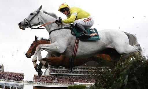 Neptune Collonges, ridden by Daryl Jacob  jumps the water