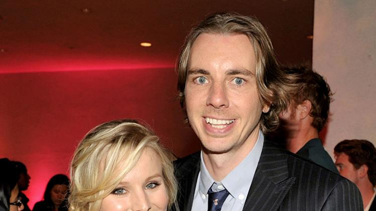 "Kristen Bell and Dax Shepard pose at the afterparty for the premiere of Universal Pictures' ""Couples Retreat"" at the Hammer Museum on October 5, 2009 in Westwood, Los Angeles, California."