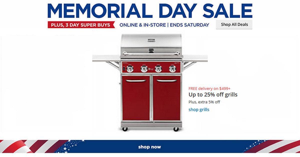 Sears® Memorial Day Outdoor Grill Sale!