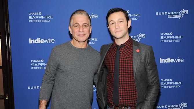 "Actor Tony Danza, left, and director, writer and actor Joseph Gordon-Levitt from the film ""Don Jon's Addiction"" visit the IndieWire Studio at Chase Sapphire on Main during the Sundance Film Festival on Saturday, Jan. 19, 2013 in Park City, Utah. (Photo: Evan Agostini/Invision for Chase Sapphire/AP Images)"