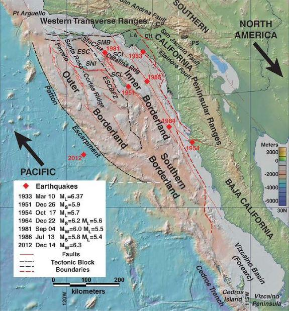 Continental Collision Could Trigger California Tsunami