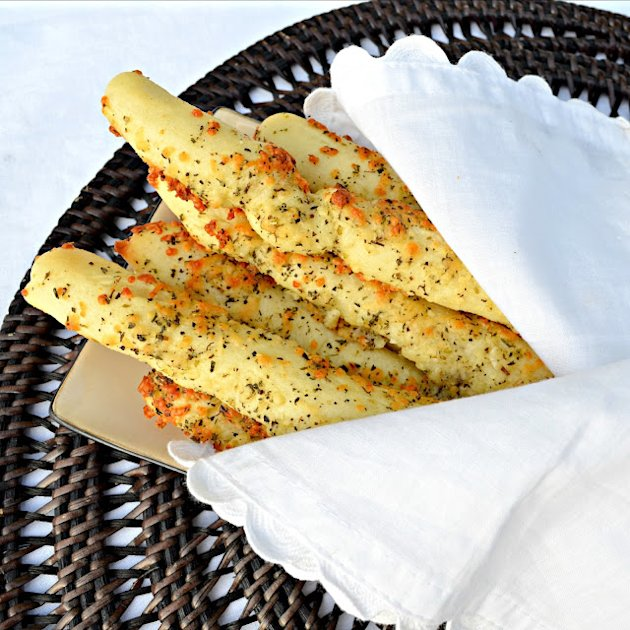Cheesy Garlic and Herb Breadsticks