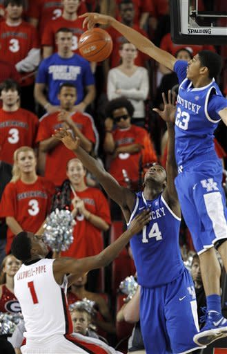 No. 1 Kentucky cruises to 57-44 win over Georgia