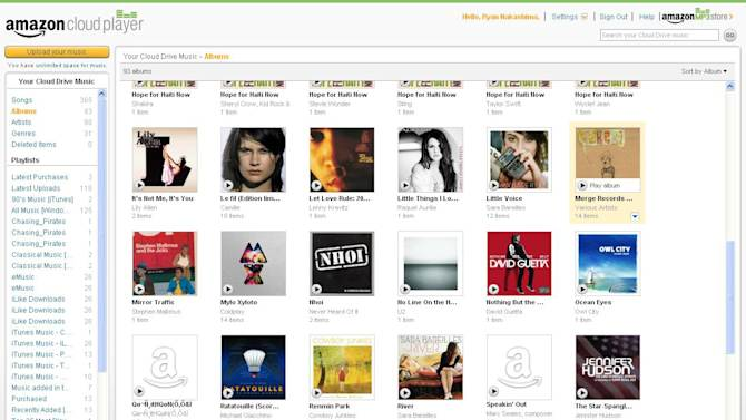 """This screen shot provided by Amazon.com, shows a page from the Amazon Cloud Player. Released in March, Amazon's cloud storage system is free for up to 5 gigabytes of storage _ roughly 1,250 songs. If you bought Lady Gaga's latest album, """"Born This Way,"""" in a 99-cent promotion in May, you'll have 20 GB of space _ good for about 5,000 songs. (AP Photo/Amazon.com)"""