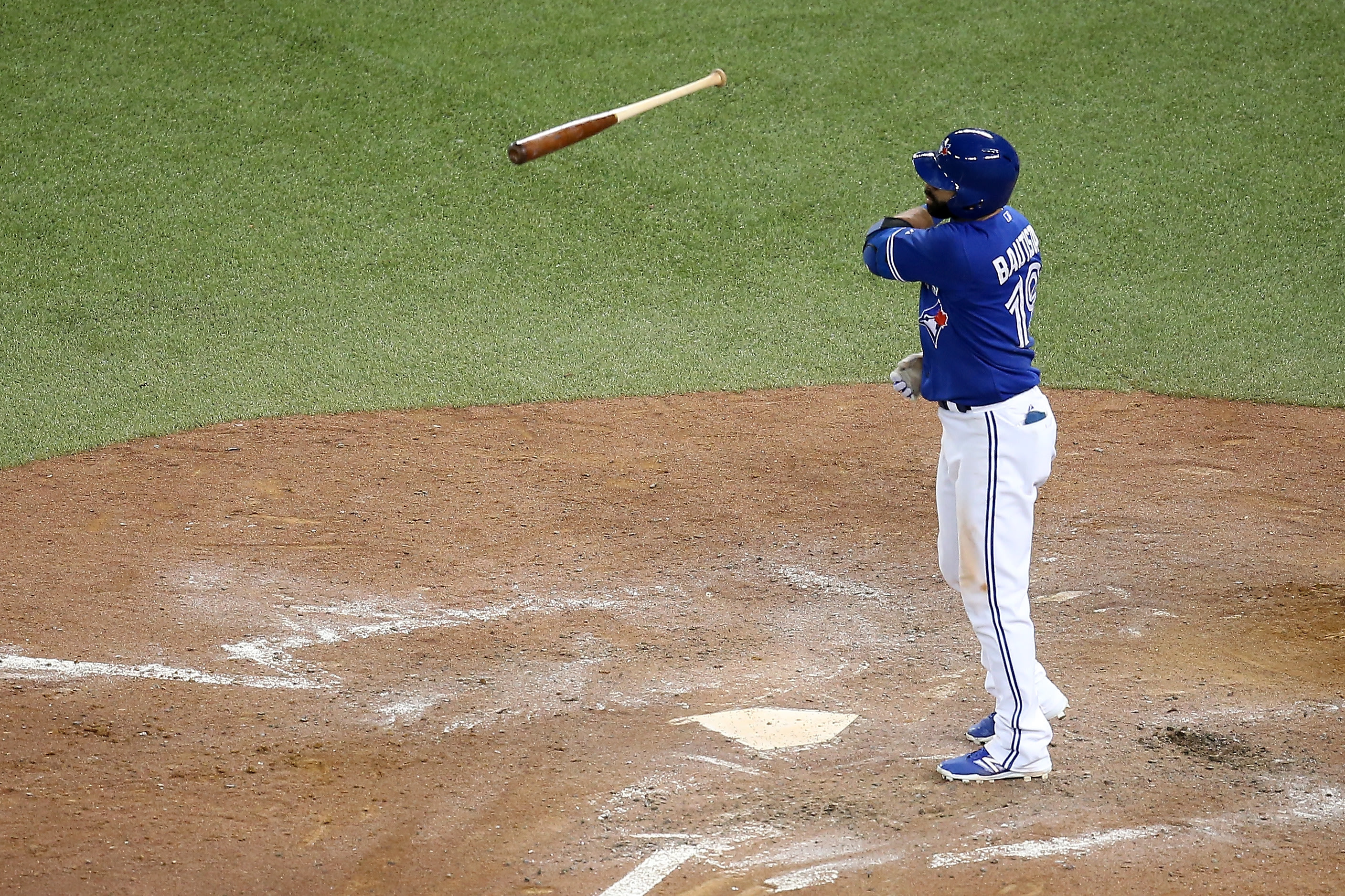 Jose Bautista's celebration after a series-winning home run is causing a firestorm in baseball