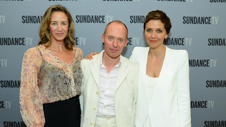 "Janet McTeer, Maggie Gyllenhall and Hugo Blick, Creator/Producer/Writer/Director at SundanceTV TCA Panel for ""The Normal Heart"" at the Beverly Hilton on July 11, 2014 in Beverly Hills. (Photo by [Jordan Strauss/Invision for SundanceTV/AP Images)"