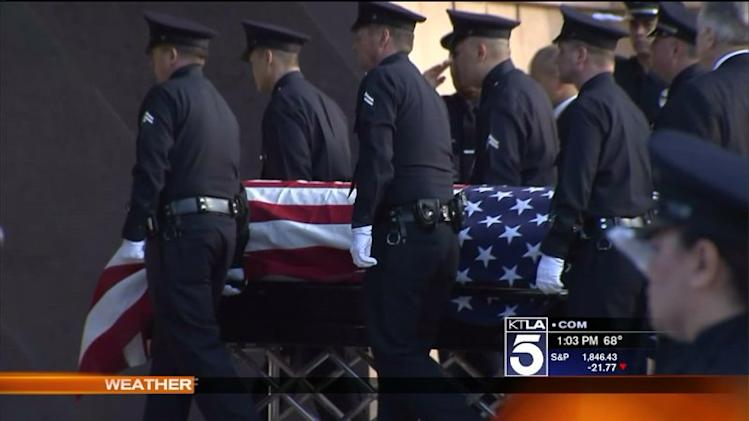 Memorial Service Held for Fallen LAPD Officer Nicholas Lee