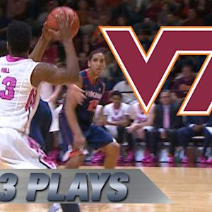 Top 3 Virginia Tech Plays in Upset Bid vs #2 Virginia