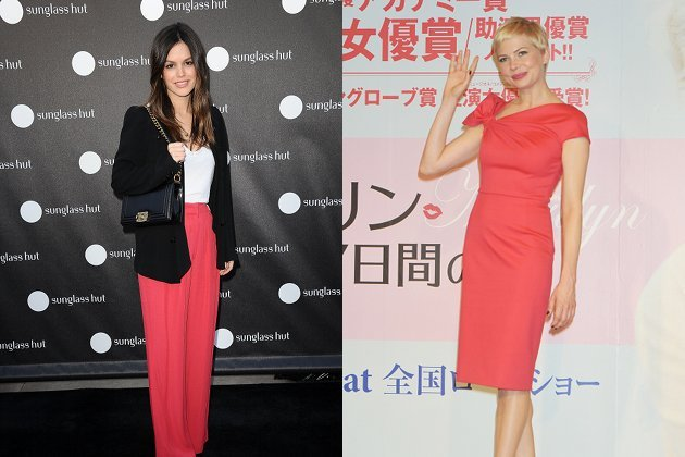 Rachel Bilson und Michelle Williams tragen die Trendfarbe der Saison (Bilder: Getty Images)