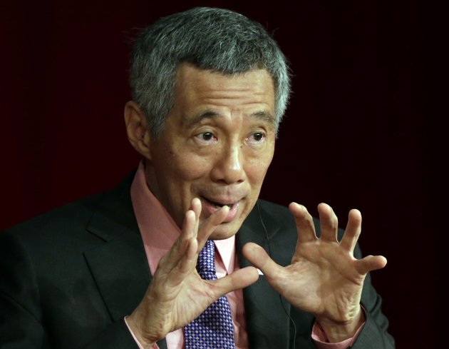 Singapore's PM Lee Hsien Loong speaks at the International Conference on the Future of Asia in Toky