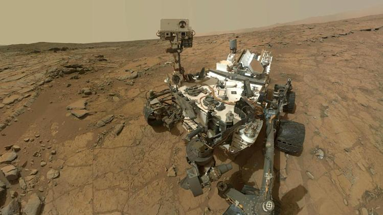 NASA's Mars rover Curiosity on Mars, February 7, 2013