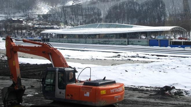 The Train Station In The Russian Ski Resort Of Krasnaya Polyana , Some 50 Kms AFP/Getty Images