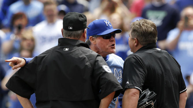 Yost, Eiland ejected in latest Royals-Blue Jays incident