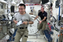 Astronauts Celebrate 'Cosmos' with Weightless Experiment in Space (Video)