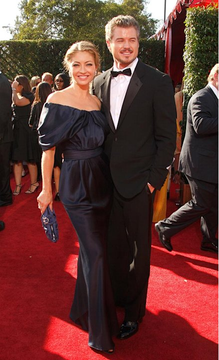 Rebecca Gayheart and Eric Dane arrives at the 59th Annual Primetime Emmy Awards at the Shrine Auditorium on September 16, 2007 in Los Angeles, California.