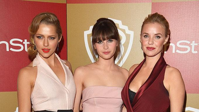 InStyle And Warner Bros. Golden Globe Party - Arrivals: Teresa Palmer, Felicity Jones and Kelli Garner