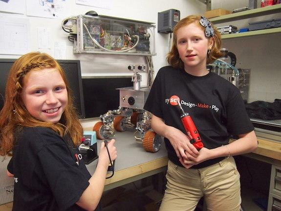 Schoolgirls Build Homemade Mars Rover You Can Drive